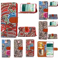 Barato Malha De Couro-Moda Woven Knit Flower Flip Wallet Leather Case para Iphone 8 7 Plus Iphone8 Carbon Fiber Cartões de fotografias Stand Pouch TPU Phone Cover 150pcs