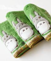 bufandas de anime al por mayor-Al por mayor-Anime lindo mi vecino Totoro Toalla de algodón Toalla de baño Toalla de mano Hoja
