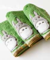 ingrosso sciarpe anime-All'ingrosso-Anime Cute My Neighbor Totoro Cotton Washcloth Bath face Asciugamano Foulard