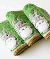 anime schals großhandel-Großhandels-Anime Nette mein Nachbar Totoro Baumwolle Waschlappen Bad Gesicht Handtuch Blatt Schal