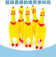 Wholesale Shrieking Chicken - Free shipping Hot 2016 Creative Commodity Shrieking vent trumpet screaming chicken Tricky Toy