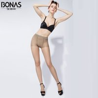 колготки для девочек оптовых-Wholesale-Free Shipping Famous BONAS 40D Spandex Tops Black Tights Womens Pantyhose High Stretchy Ladies Feet Tights Nylon Tights For Girl