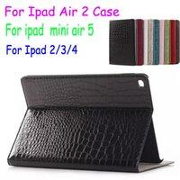 Wholesale Ipad Croco - Crocodile Croco Leather Case For iPad Air2 air 2 5 iPad 2 3 4 iPad Mini 1 2 3 Flip Stand Case