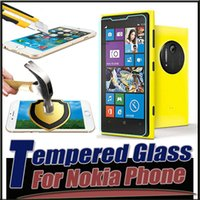 Wholesale Screen Protectors Lumia - 9H Explosion Proof Premium Tempered Glass Screen Protector Film Guard For iPhone 7 6 6S Plus Nokia Lumia 1020 920 730 430 X XL MOQ:10pcs