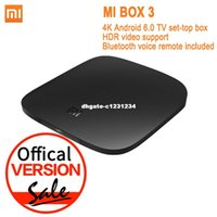 Android Tv Mi Baratos-Versión Mundial Xiaomi Mi TV Box 3 Android 6.0 4K 8GB HD WiFi Bluetooth Multi-idioma Youtube DTS Dolby IPTV Smart Media Player