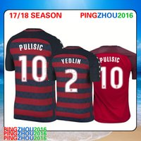 Wholesale Wholesale Football Jerseys Usa - Thai quality 2017 Gold Cup USA soccer jersey shirts DWYER PULISIC ZARDES DEMPSEY ALTIDORE 17 18 USA DEMPSEY ACOSTA Football Shirt send DHL