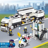Venda por atacado Police Station Building Blocks Bricks Educational Toys Compatível com toda a marca de aniversário Birthday Gift Toy