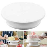 Wholesale Make Cake Stand - 11'' 28cm Cake Making Turntable Rotating Decorating Platform Stand Display Disk Holder