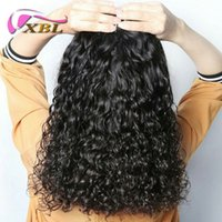 Wholesale peruvian water wave extension - XBL Water Wave Human Hair Extensions Virgin Brazilian Human Hair 3 Pieces Remy Human Hair Extensions