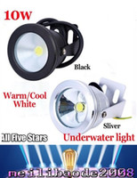 Wholesale Wall Aquariums - Aluminum Led lights LED Underwater Light LED 10W 12V Aquarium Fountain Pool Lamp light IP68 Waterproof Warm cool white lights MYY
