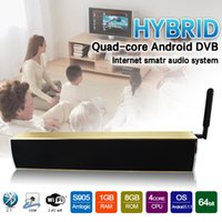 Wholesale Home Theater Sound - Wireless Sound bars 2017 Android 5.1 Home Theater Full-range Speakers KS2 Hybrid Android DVB Internet Smart Audio Surround Sound System
