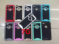 Escova Hybrid TPU PC Hard Case Para Iphone 7 Plus I7 Iphone7 6 6S I6 SE 5 5S 5C 4S 4 4G durável ShockProof Cell Phone Cover Capa de luxo 60pcs