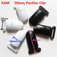 Wholesale Suspenders Plastic Clips - (2 color mixed) 30pcs KAM 4 5'' 2.0CM plastic baby Dummy pacifier soother Clips Suspender Clips for 20mm ribbon
