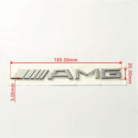 Chrome marchio dell'automobile del metallo 3D AMG Sticker Badge per Mercedes Ben Tronco Sticker posteriore SL SLK Classe CLK