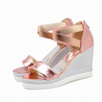 Wholesale Cheap Platform Sandals Women - Free Shipping 2016 new arrival womens' fashion decoration Gladiator of the metal casual reflective PU platform sandals cheap girls shoes X32
