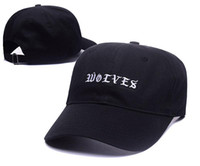 Wholesale Trendy Baseball Hats - New Curved Kanye West wolves Hat Baseball Cap casual For Men Women Snapback Unisex trendy Peacock blue cap sun hip hop cap PH