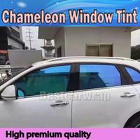 fenster grafik film großhandel-Blaues Hochleistungs-Chamäleon-Fenstertönungs-Film-Auto-Film PET-Fenstertönungen für Auto-Fenster-Grafiken geben Verschiffen frei VLT 60% GRÖSSE 1.52X30M