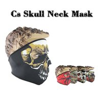 Wholesale Military Full Face Helmets - Free Shipping 3D Skull CS Full Face Mask Helmets Military Hats Caps Balaclava for Cycling Snowboard