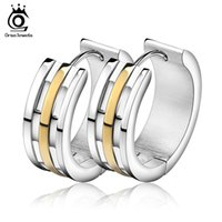 Wholesale Jewelry Young - Orsa Jewelry 3 Layers Gold Plated Classice Setting Hoop Earring Earrings For Woman The Young Wholesale Jewelry GTE32