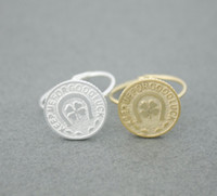"""Wholesale Good Luck Coins - Fashion lucky coin ring, """"keep me for good luck,"""" the disc ring, clovers copper ring.Wholesale free shipping"""