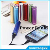 портативное зарядное устройство оптовых-Дешевые Power Bank Портативный 2600mAh Цилиндр PowerBank Внешнее резервное зарядное устройство Аварийное зарядное устройство для всех мобильных телефонов