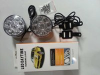 Wholesale daytime running lights for cars resale online - 2pcs W Super Bright White LED Head Front Round Fog Light for all Car DRL Off road Lamp Daytime Running Lights Parking Lamp