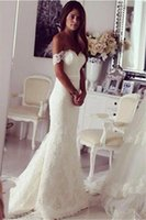 Wholesale Slinky Black Sexy Dress - Elegant Mermaid Prom Party Dresses 2017 Off-the-shoulder Floor Length Slinky Lace Evening Weddings Gowns