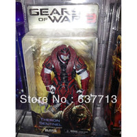 Wholesale Neca Gears War - 1 pcs 7 inch NECA Gears of War 3 Theron Sentinel PVC Action Figure Toy retail 1206#06