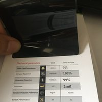Wholesale glass window film sticker for sale - Group buy 0 VLT Blackout Privacy Window Film Stickers Opaque Black Residential Glass Tint Decal Vinyl Tinting SIZE x30m x98ft
