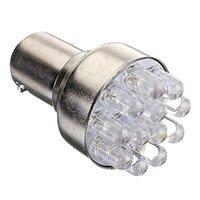 Wholesale Ba15d 12v - 1156 BA15S 12SMD LED Turn Signal Light Bulbs Car Tail Lights 1157 BAY15D LED Car Brake Light Bulb 12V