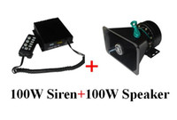 Wholesale Fire Alarm Siren - America desig High quality 100W car warning siren alarm amplifiers with remote for police ambulance fire+ 1unit 100W speaker