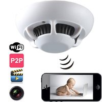 Wholesale Smoke Detectors Hidden Wireless Camera - HD 720P Smoke Detector WIFI IP Spy Hidden Camera Wireless Video Recorder P2P Home Office Security Cameras