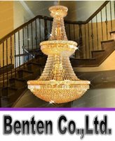 Wholesale Used Chandelier Crystals - Large Foyer Crystal Chandelier Light Fixture Gold  Chrome Crystal Chandelier Used in Villa hotel duplex buildings Free Shipping!LLFA174
