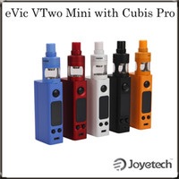 Wholesale Evic Black - Joyetech eVic VTwo Mini with Cubis Pro Kit New Firmware with 75W eVic VTwo Mini & Cubis Pro Atomizer 100% Original