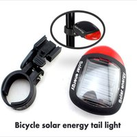 Wholesale Solar Energy Bicycle Tail Light - Wholesale-Bicycle solar energy tail light Bicycle Light rear light with 2LED lamp