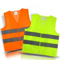 Wholesale Wholesale Men Vests - Safety Security Visibility Reflective Vest Warning Green Orange Safety Vest Construction Safety Working Vest Traffic Vests OOA2970