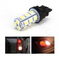 Wholesale Brake Stop Tail Turn Lights - 10Pcs 3157 White 12V 18SMD 5050 Reverse Back Up Tail Brake Stop Turn Auto Car LED Light Bulbs Lamp