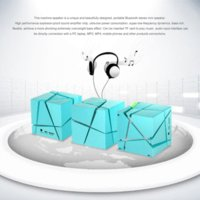 Blu Cube Portable LED ad alta fedeltà stereo senza fili altavoz portatil Bluetooth Speaker AUX TF per iPhone6 ​​altoparlante a buon mercato per lettore mp3