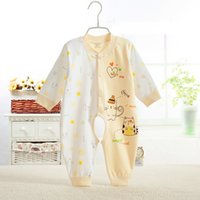 Wholesale Cutest Infant Clothes - Near Cutest 2017 Winter Baby Rompers Long Sleeves 100% Cotton Infant Coveralls Newborn Baby Boy Girl Clothes Baby Clothing