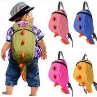 Wholesale Dinosaur Bags - kids backpack kindergarten girls boys children backpack school bags cartoon animals smaller dinosaurs bag 3-7 year fashion