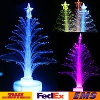 lâmpadas de árvore de fibra óptica venda por atacado-Colorido LEVOU Árvore De Natal De Fibra Óptica Luz Noturna Árvore de Natal Lâmpada Luz Decoração Festa de Feriado Iluminação Crianças Presente de Natal WX-C25