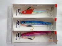 Wholesale Led Bass Fishing Lure - Hot Brand 3D Fish Metal Jigs Iron Lures 9cm 40g 12cm 80g Lead fish artificial bait for Big game bass fishing