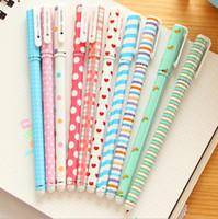 Wholesale pc ink - Wholesale-10 Pcs Korean Stationery Stationery Watercolor Pen Gel Pens Set Color Kandelia