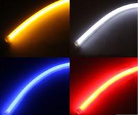 luz de conducción diurna flexible led al por mayor-30 CM flexible tira de tubo led blanco car-styling suave diurna luz DRL faro luces universales del coche