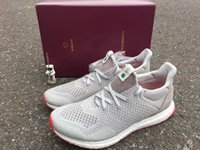 Wholesale Gray Canvas Fabric - [With Box]Solebox Consortium Ultra Boost UNCAGED Gray Red S80338 Sneakers Men's and women's Casual Shoes Breathable Running Shoes Size 36-45