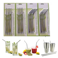 Wholesale Drinks Set - 4+1 Set Stainless Steel Straws and Cleaning Brushes for RTIC & Drinks Cup Brush 20OZ 30OZ Avaiable Drinking Straw