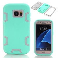 Wholesale Hybrid Screen Protector Stylus - WeFor Case Cover For Samsung Galaxy S7 Shockproof Hybrid Armor TPU Rubber Heavy Duty Phone Case w Screen Protector+Stylus Pen