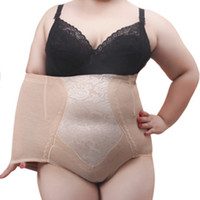 Wholesale Tall Waist Panties - Wholesale- New Arrival Plus Size 5XL Underwears Women Shapers Tall waist Tuck corset gauze mother briefs Body-hugging maternal belly