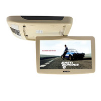 Wholesale Ceiling Mount Dvd - 10.1 Inch Flip Down TFT LCD Monitor Car Roof Mounted Monitor Car Ceiling Monitor with Two Video Input Super Slim HD