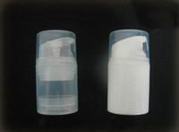 botellas de aire de alta calidad al por mayor-30 ml / 50 ml botella de aire blanco o transparente de alta calidad pp sin aire botella de bomba sin aire de 30 ml envase de 1 oz sin aire
